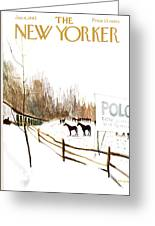 New Yorker January 6th, 1962 Greeting Card