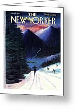New Yorker January 7th, 1961 Greeting Card