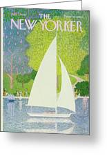 New Yorker July 1st 1974 Greeting Card