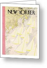 New Yorker July 23rd, 1938 Greeting Card