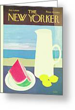 New Yorker July 9th, 1966 Greeting Card