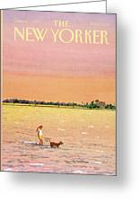 New Yorker June 16th, 1986 Greeting Card