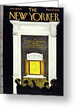 New Yorker Magazine Cover Of The Declaration Greeting Card