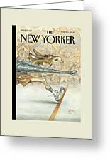 New Yorker November 20th, 2000 Greeting Card by Peter de Seve