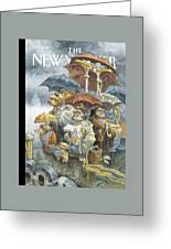 New Yorker November 21st, 2005 Greeting Card by Peter de Seve