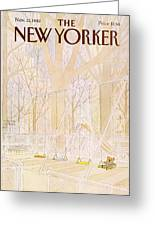 New Yorker November 22nd, 1982 Greeting Card