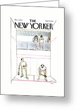 New Yorker November 7th, 1977 Greeting Card by Charles Saxon
