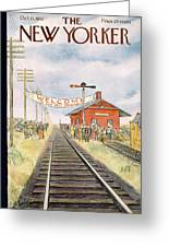 New Yorker October 11th, 1952 Greeting Card