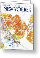 New Yorker October 17th, 1983 Greeting Card
