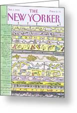 New Yorker October 1st, 1990 Greeting Card