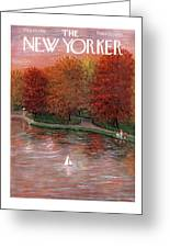 New Yorker October 20th, 1956 Greeting Card
