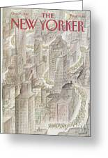 New Yorker October 25th, 1982 Greeting Card