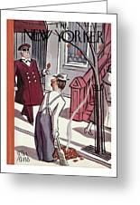 New Yorker October 29th, 1938 Greeting Card