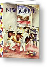 New Yorker October 5 1935 Greeting Card