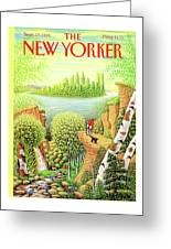 Green New York Greeting Card