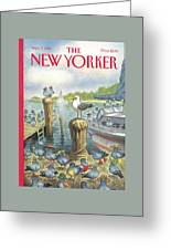 New Yorker September 5th, 1994 Greeting Card by Peter de Seve