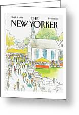 New Yorker September 8th, 1986 Greeting Card