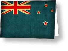 New Zealand Flag Vintage Distressed Finish Greeting Card