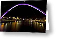 Newcastle Quayside And Sage Gateshead Greeting Card