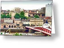 Newcastle Upon Tyne Quayside Greeting Card