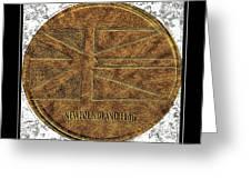 Newfoundland Flag - Brass Etching Greeting Card
