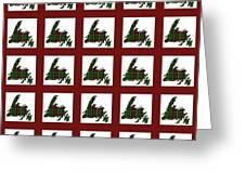 Newfoundland Tartan Map Blocks Red Trim Greeting Card