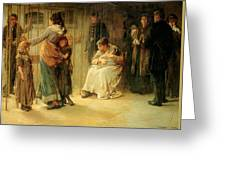 Newgate Committed For Trial, 1878 Greeting Card