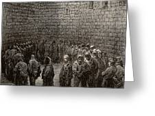 Newgate Prison Exercise Yard Greeting Card
