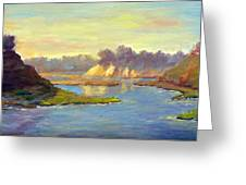 Newport Back Bay In Light Greeting Card