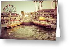 Newport Beach Balboa Island Ferry Dock Photo Greeting Card