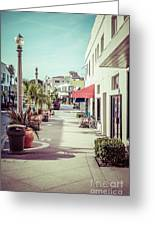 Newport Beach Main Street Balboa Peninsula Picture Greeting Card