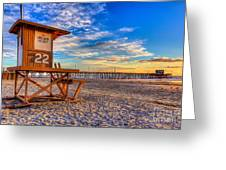 Newport Beach Pier - Wintertime  Greeting Card
