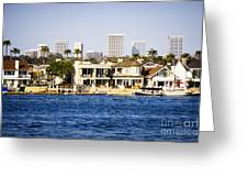 Newport Beach Skyline And Waterfront Homes Picture Greeting Card by Paul Velgos