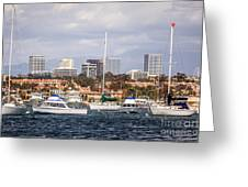 Newport Beach Skyline  Greeting Card