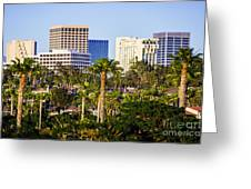 Newport Beach Skyline Picture Greeting Card