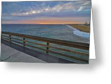 Newport Beach Sunset On Balboa Pier Greeting Card