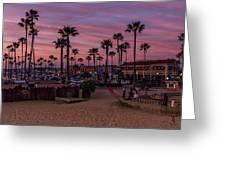 Newport Beach Sunset Greeting Card