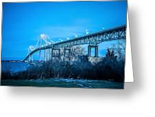 Newport Bridge Greeting Card