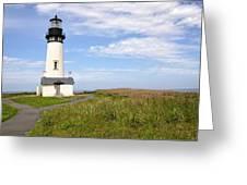 Newport Oregon Yaquina Lighthouse Greeting Card