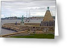Newport Rhode Island Harbor Ivi Greeting Card