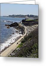 Newport's Cliff Walk View Greeting Card