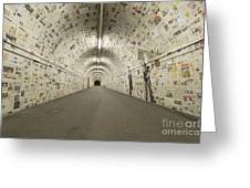 News In The Tunnel Greeting Card