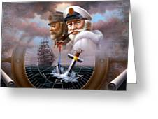 Imperishable Two Map Captain 4  Greeting Card