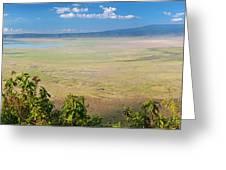 Ngorongoro Crater In Tanzania Africa Greeting Card