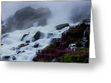 Niagara Falls At A Different Point Of View Greeting Card