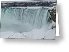 Niagara Falls Canada In Winter Greeting Card