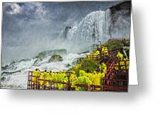 American Falls Niagara Cave Of The Winds Greeting Card