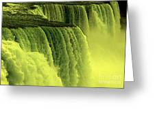 Niagara Falls Closeup Hot Wax Effect Greeting Card