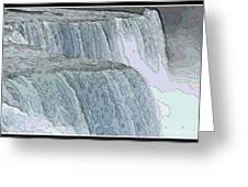 Niagara Falls Contour Drawing Effect Greeting Card