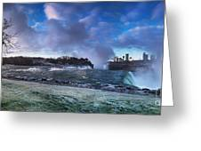 Niagara Falls Dramatic Panoramic Scenery Greeting Card